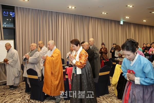 한일불교문화교류협의회 여성부는 1월 16일 부산밸류호텔 2층 연회장에서 기해년 신년하례를 개최했다.