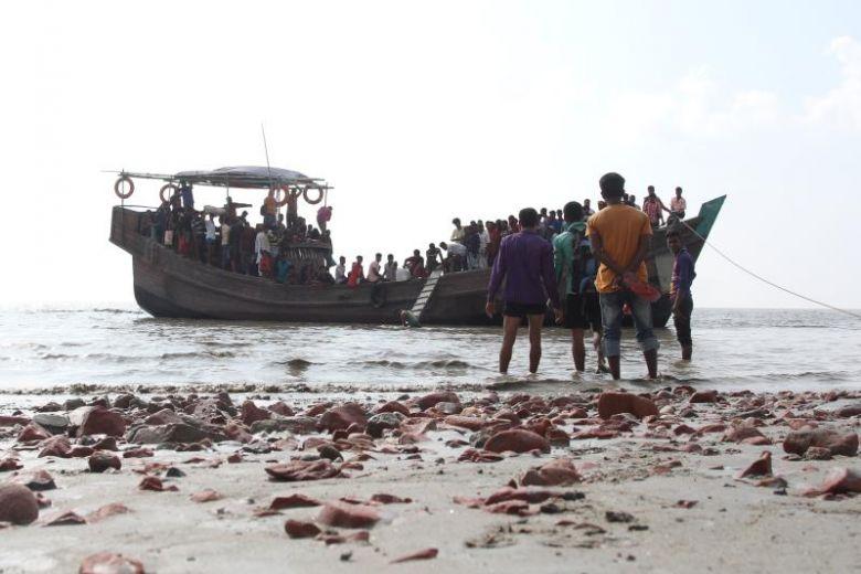 말레이시아로 밀입국을 시도하던 로힝야 난민.사진출처=AFP통신