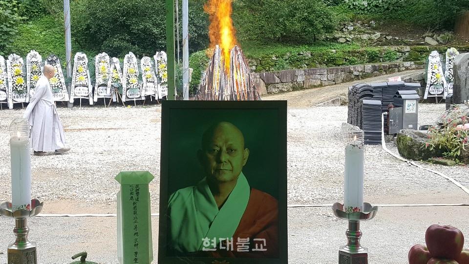 9월 4일 엄수된 승욱 스님의 영결·다비식