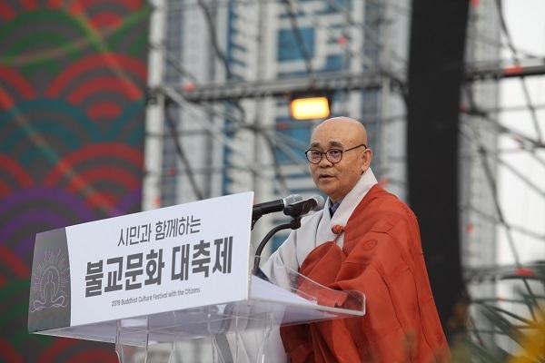 불교문화대축제조직위원회 조직위원장 경선 스님(범어사 주지)