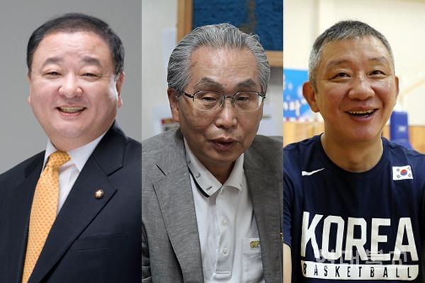 사진 왼쪽부터 강창일 국회의원, 문명대 명예교수, 허재 감독