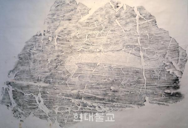 암각화 탁본, 하늘사슴-몽골 슈베트하이르항.